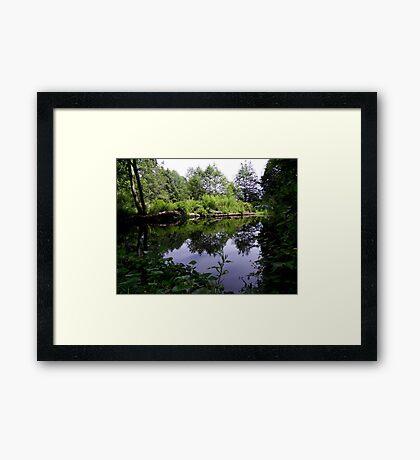 Acorn Bank Gardens Secret Lake Framed Print