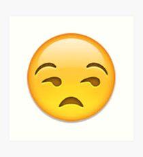 Annoyed Emoji Art Print