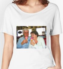 Enjoying a Good Laugh Together Women's Relaxed Fit T-Shirt