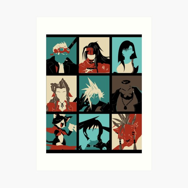 Fantasy Final Seven Art Print