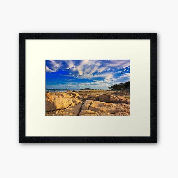 Sandstone Sunset Framed Art Print