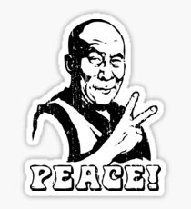 Dalai Lama Peace Sign T-Shirt Sticker