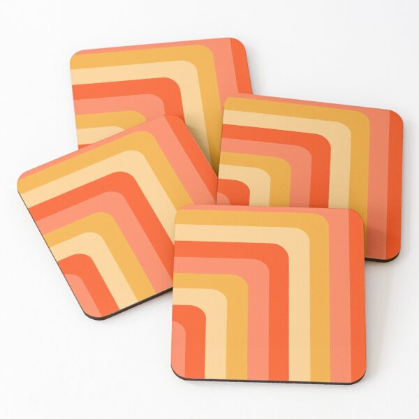 60s Vibe #34 Coasters (Set of 4)