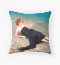 Lady in the Water Throw Pillow