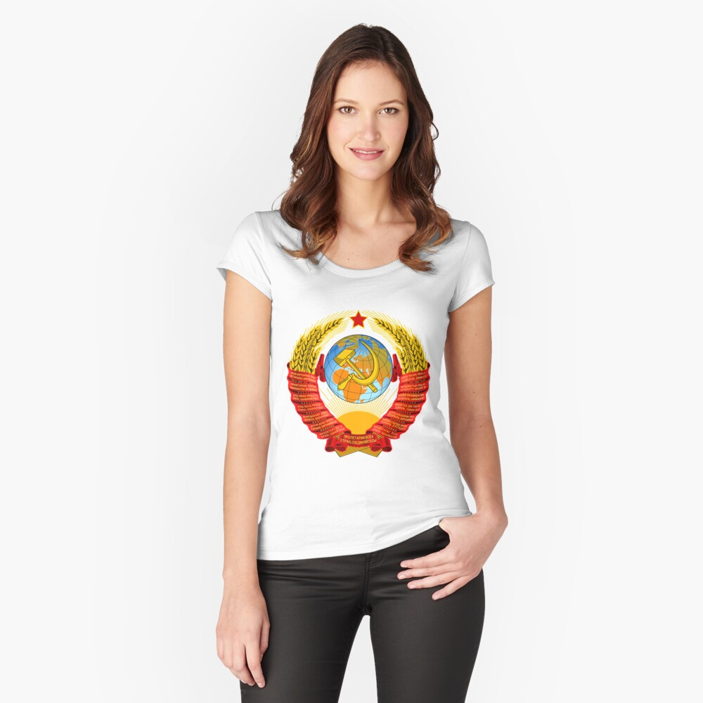 History of the Soviet Union (1927–1953) State Emblem of the Soviet Union Fitted Scoop T-Shirt