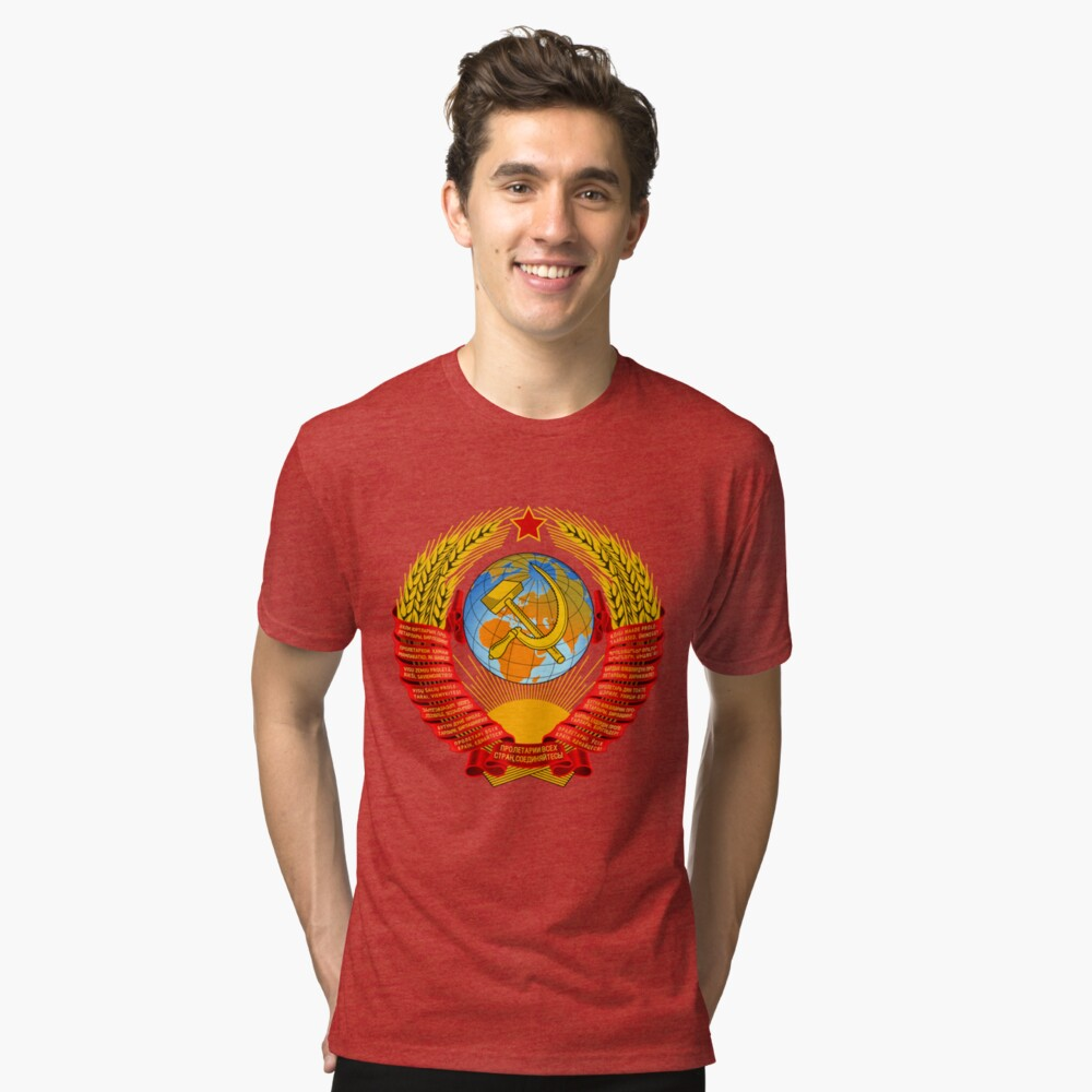 History of the Soviet Union (1927–1953) State Emblem of the Soviet Union Tri-blend T-Shirt