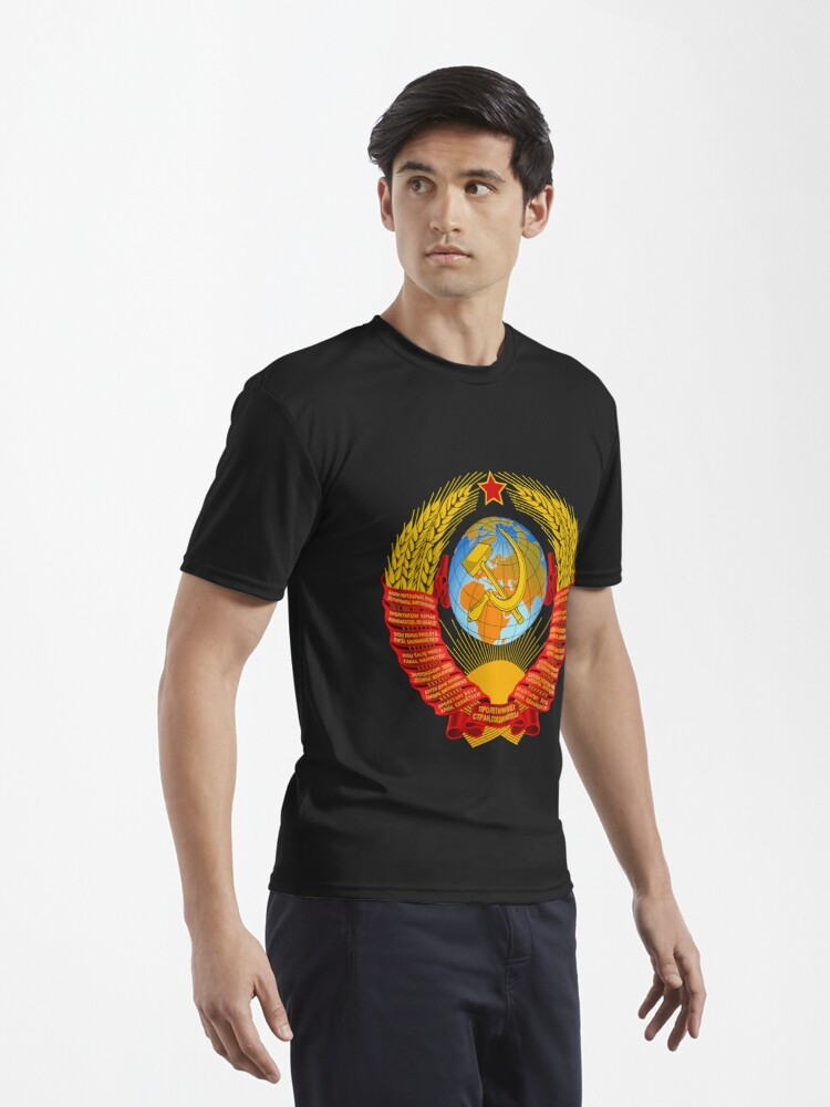 Alternate view of History of the Soviet Union (1927–1953) State Emblem of the Soviet Union Active T-Shirt