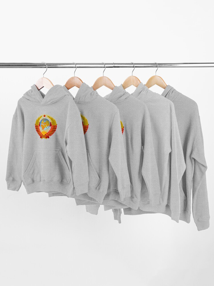Alternate view of History of the Soviet Union (1927–1953) State Emblem of the Soviet Union Kids Pullover Hoodie