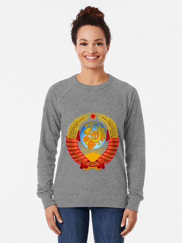 Alternate view of History of the Soviet Union (1927–1953) State Emblem of the Soviet Union Lightweight Sweatshirt