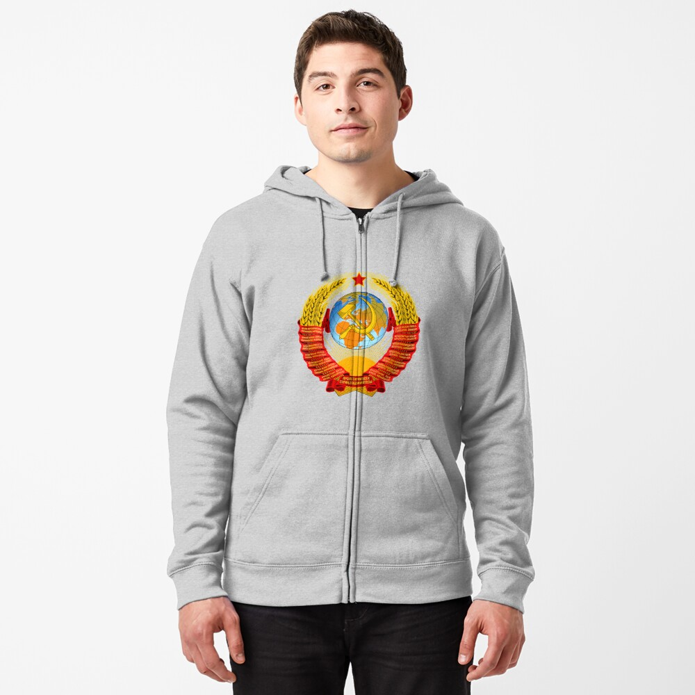 History of the Soviet Union (1927–1953) State Emblem of the Soviet Union Zipped Hoodie