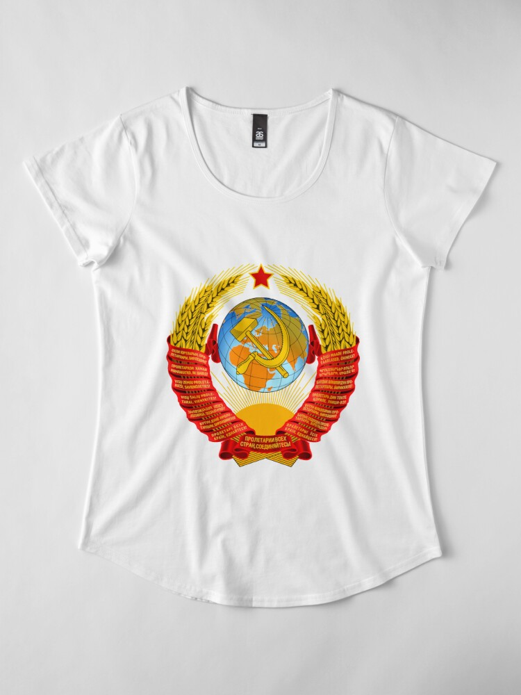 Alternate view of History of the Soviet Union (1927–1953) State Emblem of the Soviet Union Premium Scoop T-Shirt