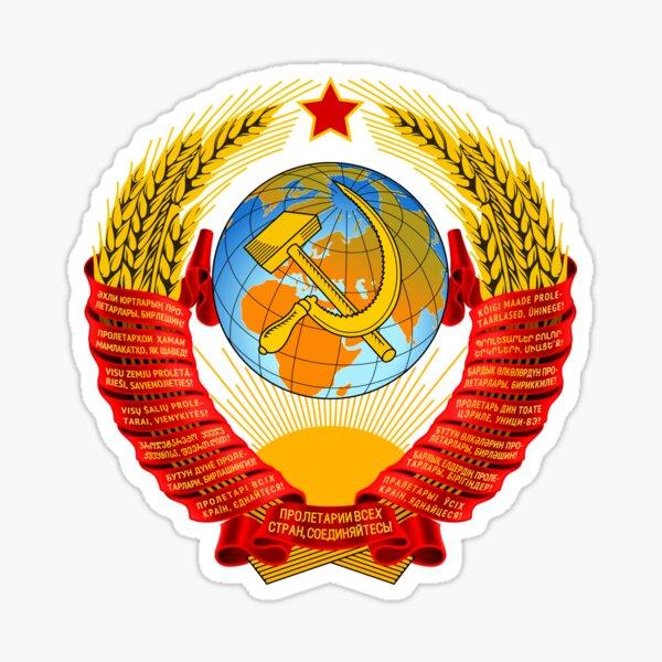 History of the Soviet Union (1927–1953) State Emblem of the Soviet Union Sticker