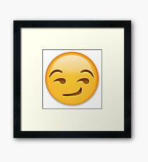 Smirking Emoji Framed Print