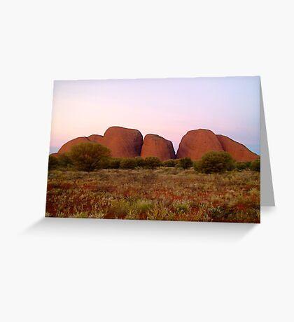 Kata Tjuta (The Olgas) at sunset Greeting Card