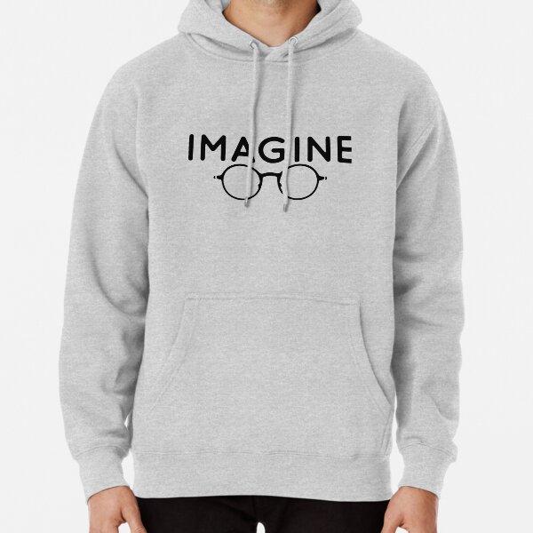 """Imagine"" John Lennon Quote Pullover Hoodie"