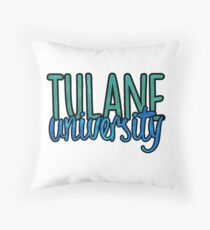 Tulane University Two Tone Throw Pillow