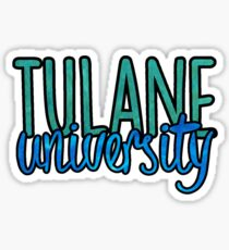 Tulane University Two Tone Sticker