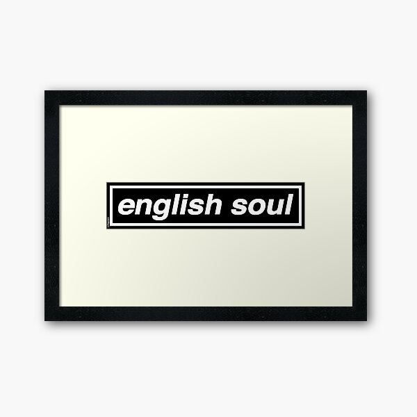 English Soul - OASIS Band Tribute - MADE IN THE 90s Framed Art Print