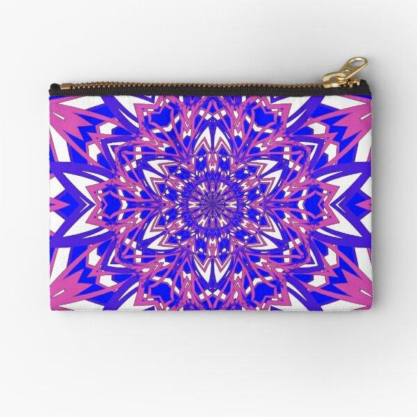 #Abstract, #proportion, #art, #flower, pattern, bright, decoration, kaleidoscope, ornate, creativity Zipper Pouch