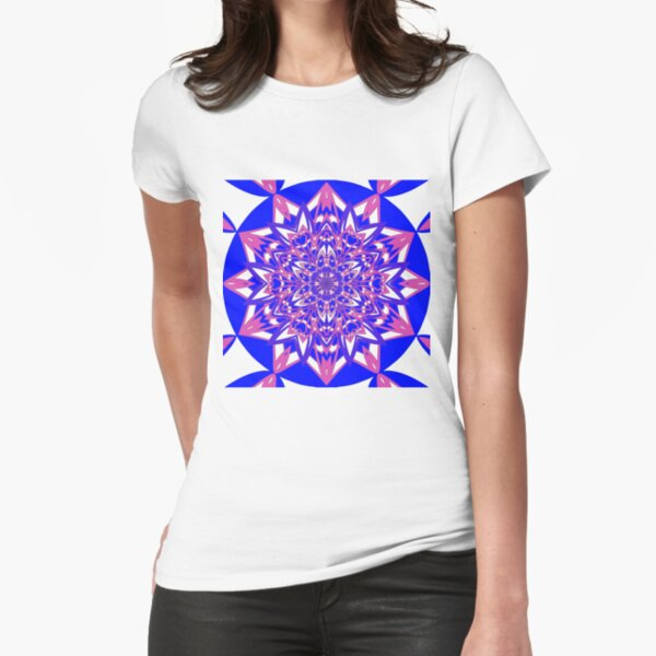 #Abstract, #proportion, #art, #flower, pattern, bright, decoration, kaleidoscope, ornate, creativity Fitted T-Shirt