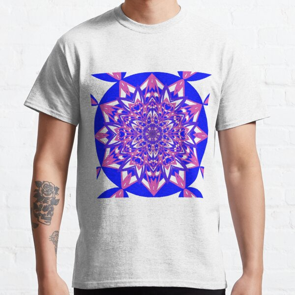 #Abstract, #proportion, #art, #flower, pattern, bright, decoration, kaleidoscope, ornate, creativity Classic T-Shirt