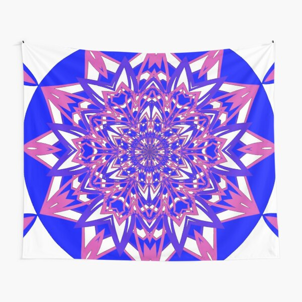 #Abstract, #proportion, #art, #flower, pattern, bright, decoration, kaleidoscope, ornate, creativity Tapestry