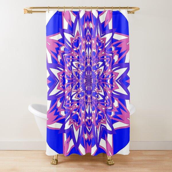 #Abstract, #proportion, #art, #flower, pattern, bright, decoration, kaleidoscope, ornate, creativity Shower Curtain