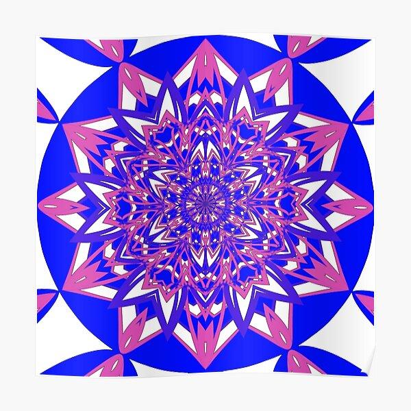 #Abstract, #proportion, #art, #flower, pattern, bright, decoration, kaleidoscope, ornate, creativity Poster