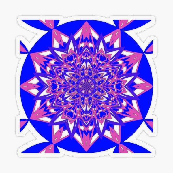 #Abstract, #proportion, #art, #flower, pattern, bright, decoration, kaleidoscope, ornate, creativity Transparent Sticker
