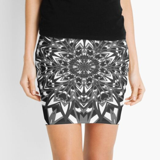 #Abstract, #proportion, #art, #flower, pattern, bright, decoration, kaleidoscope, ornate, creativity Mini Skirt