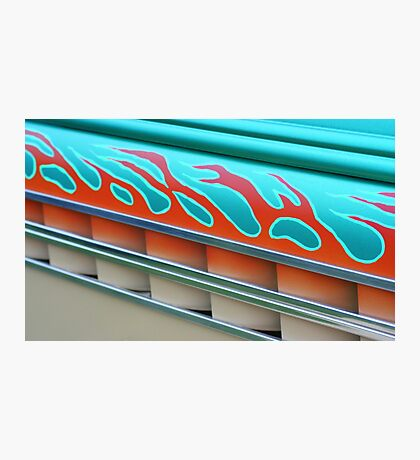 Street Rod Art: Flaming Louvers Photographic Print