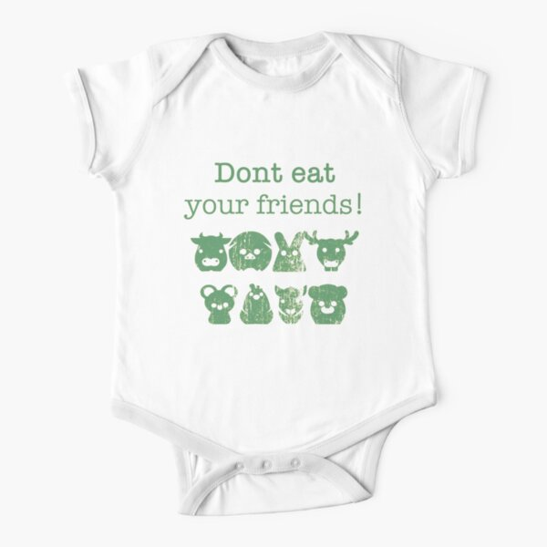 Don't Eat Your Friends Short Sleeve Baby One-Piece