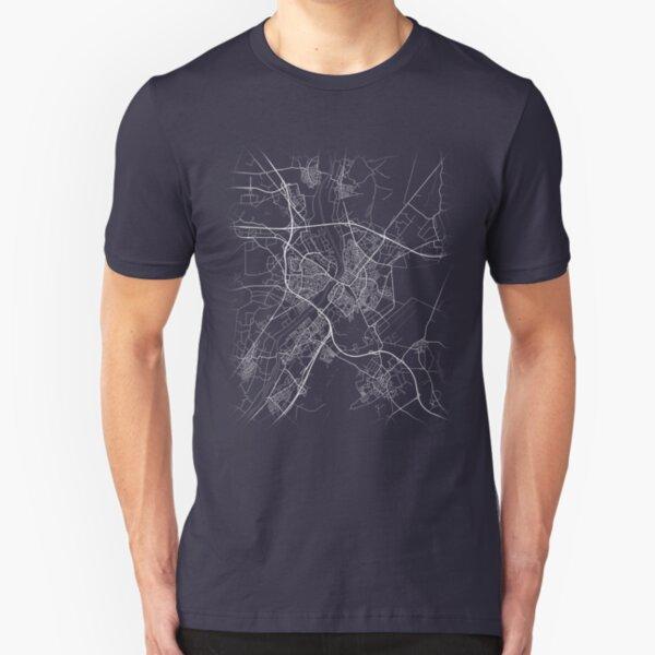 Minimal Venlo (Nederland, Netherlands, Limburg) City Map & Streets Slim Fit T-Shirt