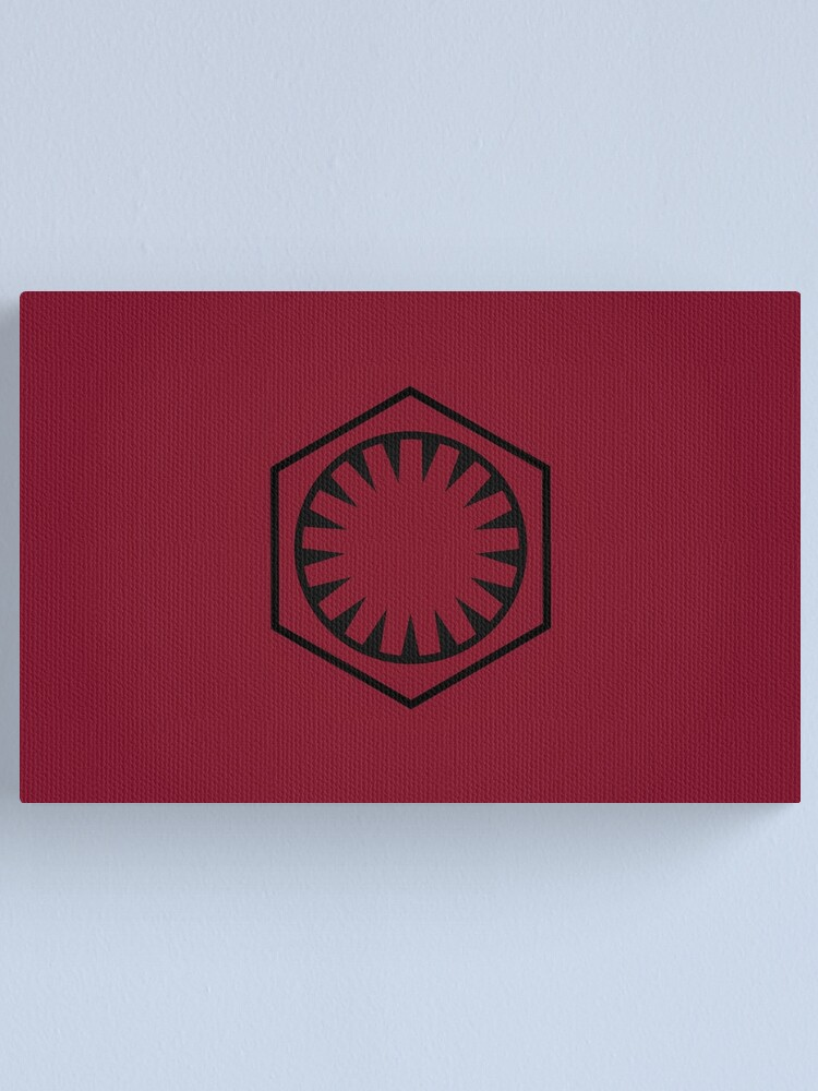 Alternate view of First Order Logo Canvas Print