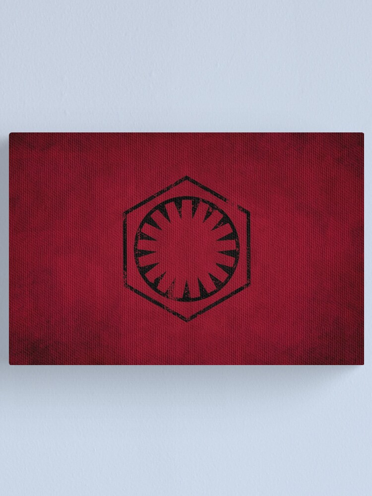 Alternate view of First Order Logo · Distressed Canvas Print