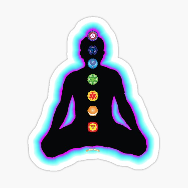 Chakras Meditation Sticker