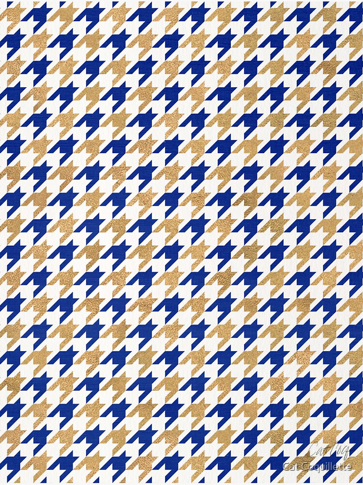 Houndstooth – Navy & Gold Palette by catcoq
