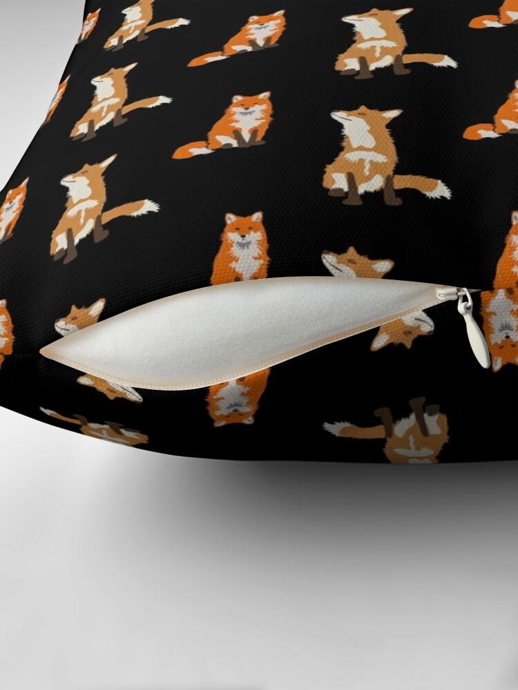 Alternate view of Foxes Throw Pillow