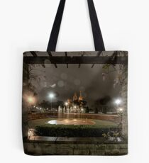 The Wisteria and The Raindrops Tote Bag
