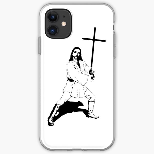 Jesus with Saber T-Shirt iPhone Soft Case