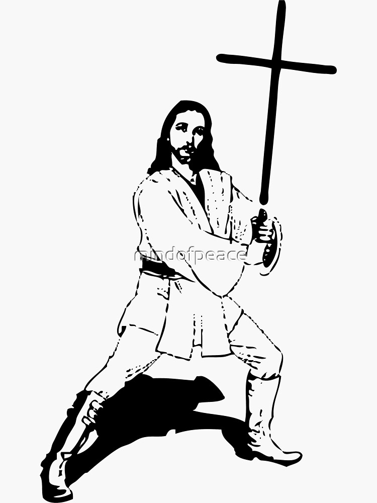 Jesus with Saber T-Shirt by mindofpeace