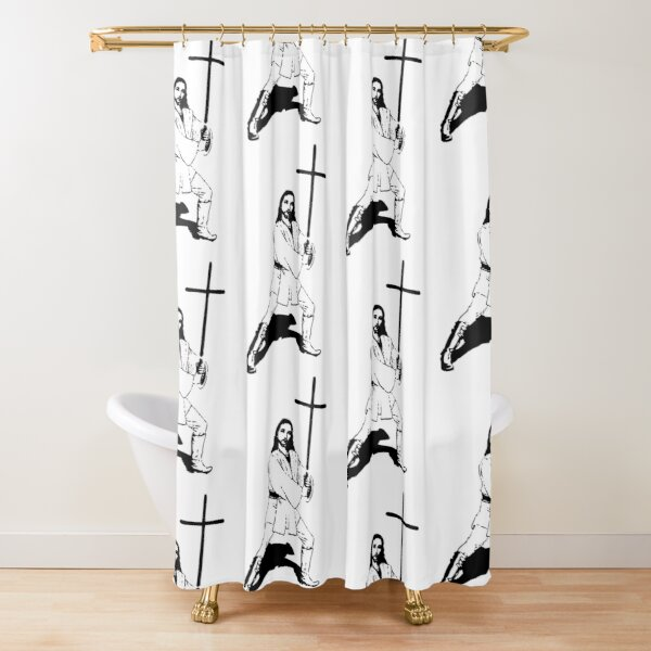 Jesus with Saber T-Shirt Shower Curtain