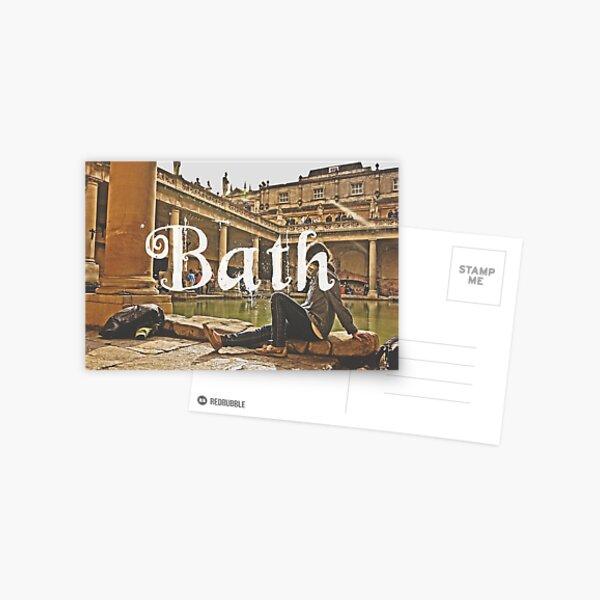 Bath II Typography Print Postcard