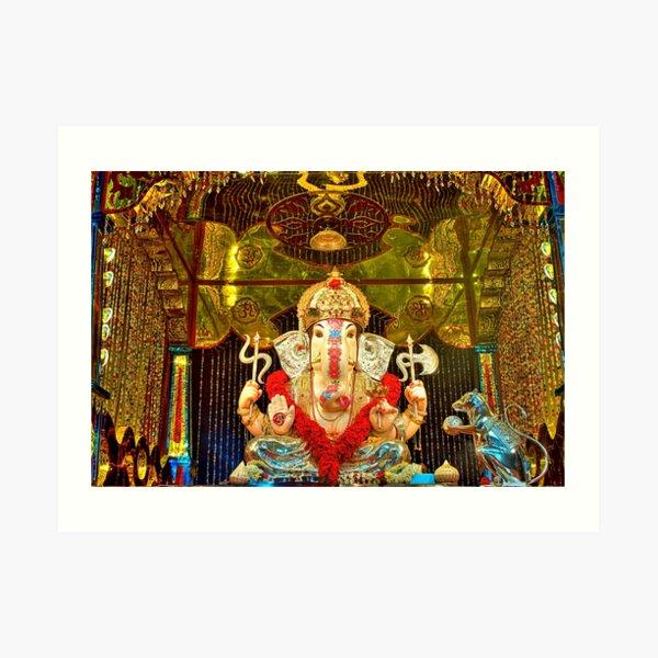 Jilbya Maruti Ganapati Art Print