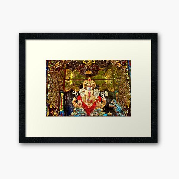 Jilbya Maruti Ganapati Framed Art Print