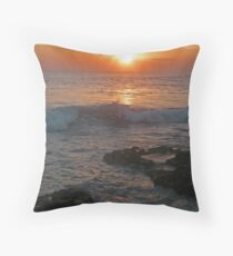 Bali Tana Lot Sunset Throw Pillow