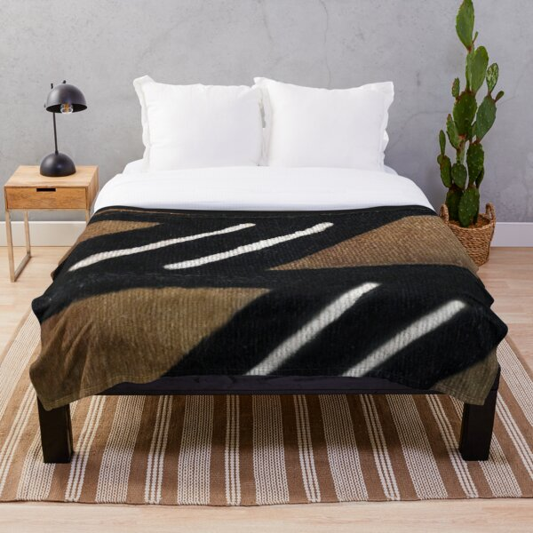 African Mudcloth Throw Blanket