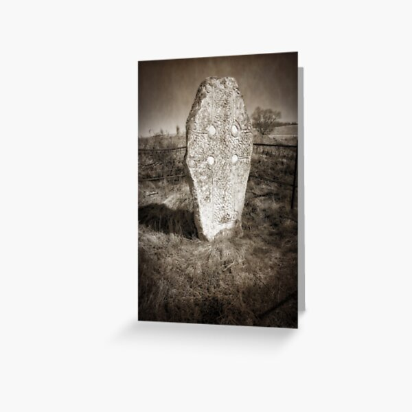Pictish cross, Loch Kinord Greeting Card