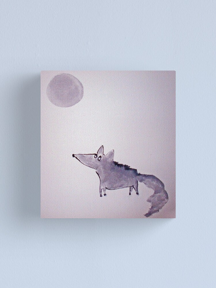 Alternate view of Wolfy Canvas Print