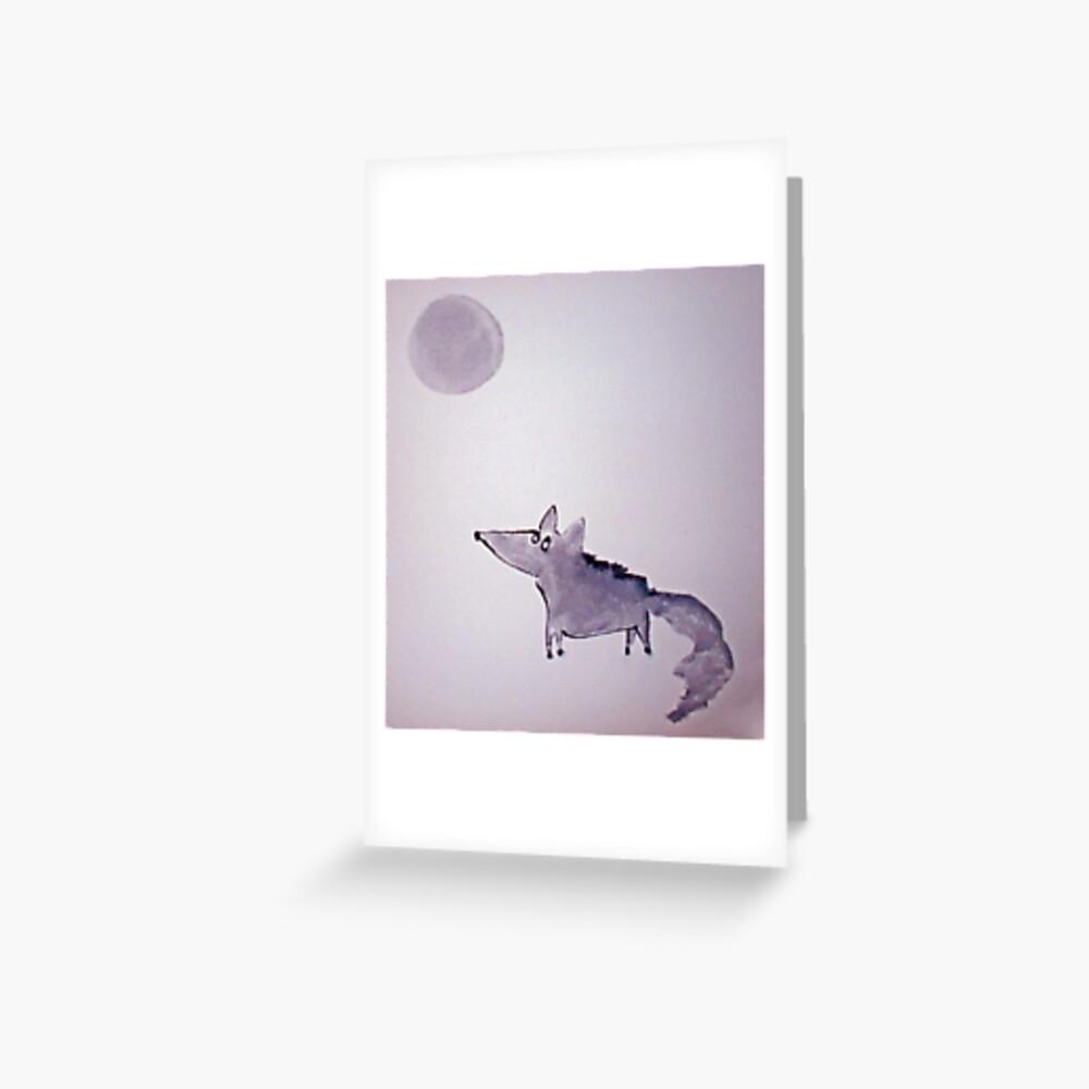 Wolfy Greeting Card